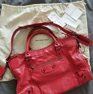Balenciaga purse with brass hardware-authentic